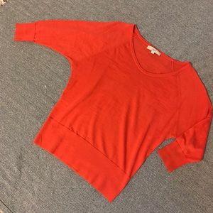 Orange Loft shrug sweater